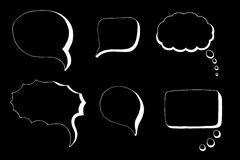 Doodle Speech Bubbles Royalty Free Stock Photography
