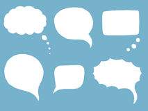 Doodle Speech Bubbles Stock Photos