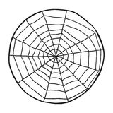 Doodle spiderweb  on white background. Vector Stock Image