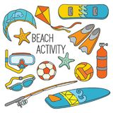 Doodle Sport Activity royalty free illustration