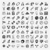 Doodle sport icons Royalty Free Stock Photography