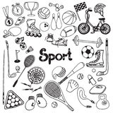 Doodle Sport Set Stock Photos