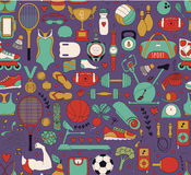 Doodle sports elements. Vector illustration Royalty Free Stock Photos