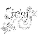 Doodle spring background Stock Image
