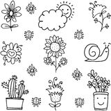 Doodle of spring theme collection Stock Photo