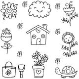 Doodle of spring theme collection Royalty Free Stock Photography