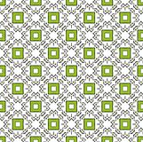 Doodle square green pattern stock photos