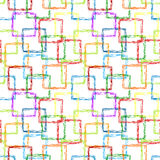 Doodle squares seamless pattern Stock Image