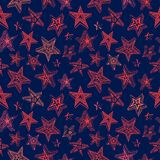 Doodle stars pattern Royalty Free Stock Image