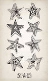 Doodle stars pattern Stock Photography