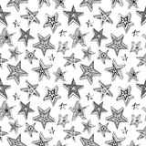 Doodle stars pattern Royalty Free Stock Photos
