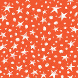 Doodle stars pattern of space collection. Stock Image