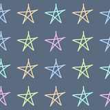 Doodle stars seamless pattern background. Hand drawn elements. Doodle seamless pattern background. Hand drawn vector elements Royalty Free Stock Photos