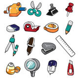 Doodle Stationery Royalty Free Stock Photos