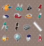 Doodle stationery stickers Royalty Free Stock Photos