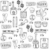 Doodle of stock collection music theme Stock Image