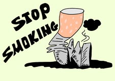 Doodle stop smoking Stock Photo