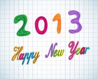 Doodle style 2013 year Royalty Free Stock Images
