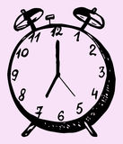 Doodle style alarm clock Stock Images