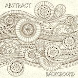 Doodle style background pattern in vector. Stock Image