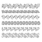Doodle style brushes for your creative decorative design. Vector illustration stock illustration