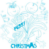 Doodle style christmas background Royalty Free Stock Photo
