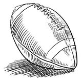 Doodle style football Royalty Free Stock Images