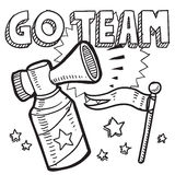 Go team sports air horn sketch Royalty Free Stock Image