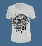 Doodle style and Graphics for T-shirt. Stock Photos