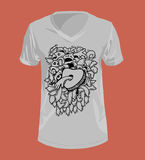 Doodle style and Graphics for T-shirt. Royalty Free Stock Images