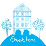 Doodle style house Stock Image
