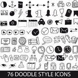 Doodle style icons royalty free stock photography