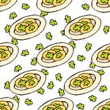 Doodle Style Seamless Pattern for Saint Patrick's Stock Photo