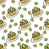 Doodle Style Seamless Pattern for Saint Patrick's Royalty Free Stock Photography