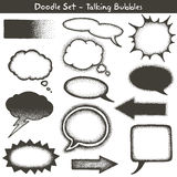 Doodle style speech bubbles Stock Images