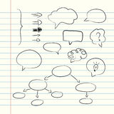 doodle style speech bubbles Royalty Free Stock Image