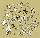 Doodle style star Royalty Free Stock Photos