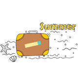 Doodle style summer vacations themed banner Stock Image