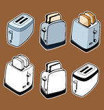 Doodle style toasters Stock Image