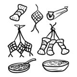 Doodle style traditional food vector illustration
