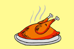 Doodle style, whole chicken Royalty Free Stock Photography
