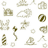Doodle of Summer icon set Stock Photography