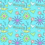 Doodle summer pattern Stock Photo