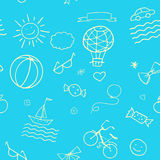 Doodle Summer pattern Stock Photos