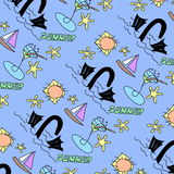 Doodle Summer pattern Royalty Free Stock Photo