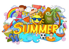 Doodle of Summer poster Royalty Free Stock Photography