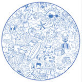 Doodle Summer vacation, vector illustration Stock Images