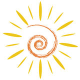 The doodle sun symbol Stock Photography