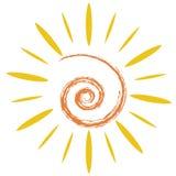 The doodle sun symbol Stock Photography