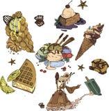 Cartoon Sweet Stuff vector illustration